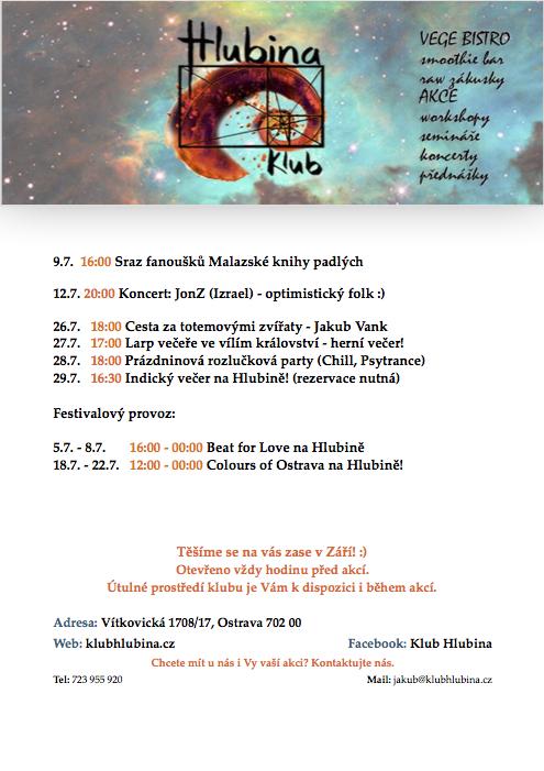 Program Červenec